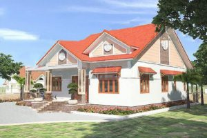 Nhà cấp 4 mái thái 3 phòng ngủ kiểu nhà vườn