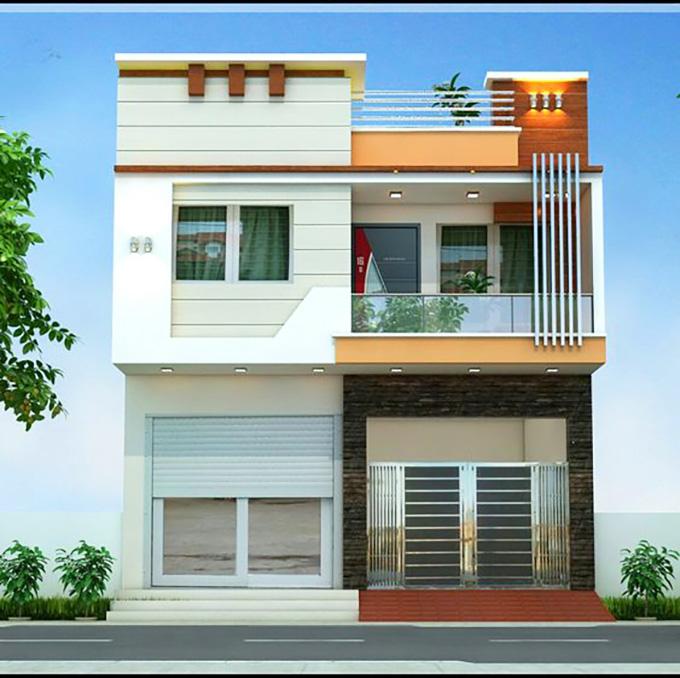 Mẫu 8: mẫu thiết kế nhà 2 tầng mặt tiền 6m