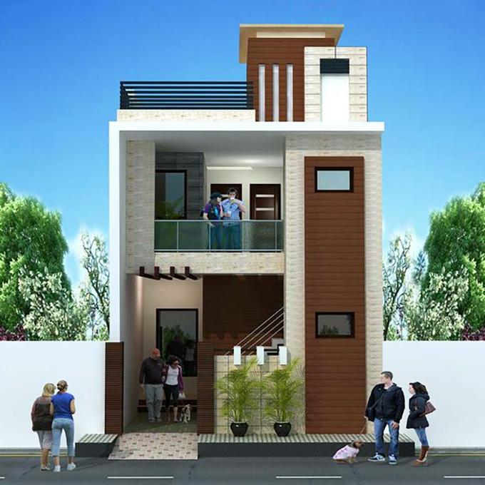 Mẫu 9: mẫu thiết kế nhà 2 tầng mặt tiền 6m