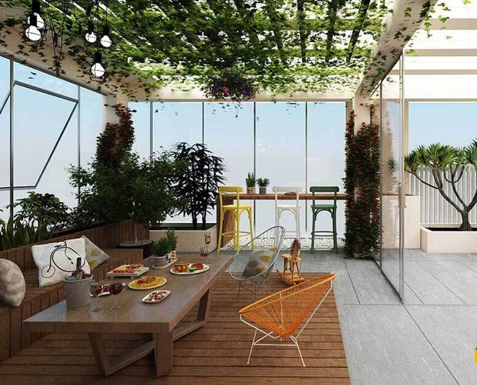 25 Mẫu thiết kế sân thượng vườn nhà phố tuyệt vời nhất 2021 - Mẫu sân thượng 02