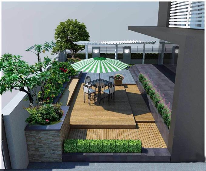 22 Mẫu thiết kế sân thượng nhà phố tuyệt vời nhất 2021 - Mẫu sân thượng 16