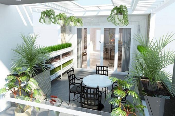 22 Mẫu thiết kế sân thượng nhà phố tuyệt vời nhất 2021 - Mẫu sân thượng 18