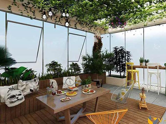 22 Mẫu thiết kế sân thượng nhà phố tuyệt vời nhất 2021 - Mẫu sân thượng 11