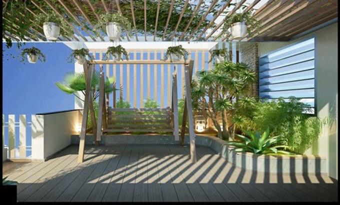 22 Mẫu thiết kế sân thượng nhà phố tuyệt vời nhất 2021 - Mẫu sân thượng 24