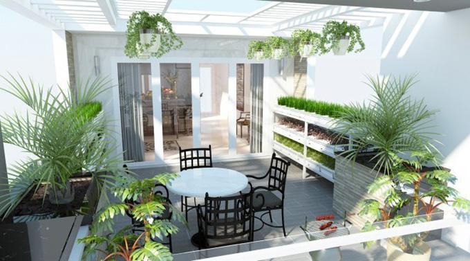 22 Mẫu thiết kế sân thượng nhà phố tuyệt vời nhất 2021 - Mẫu sân thượng 09