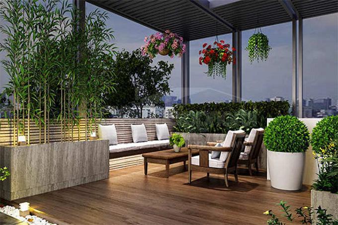 22 Mẫu thiết kế sân thượng nhà phố tuyệt vời nhất 2021 - Mẫu sân thượng 10