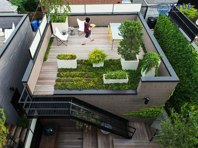 22 Mẫu thiết kế sân thượng nhà phố tuyệt vời nhất 2021 - Mẫu sân thượng 25