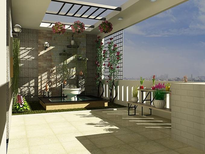 22 Mẫu thiết kế sân thượng nhà phố tuyệt vời nhất 2021 - Mẫu sân thượng 13