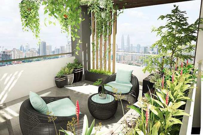 22 Mẫu thiết kế vườn sân thượng nhà phố tuyệt vời nhất 2021 - Mẫu sân thượng 08