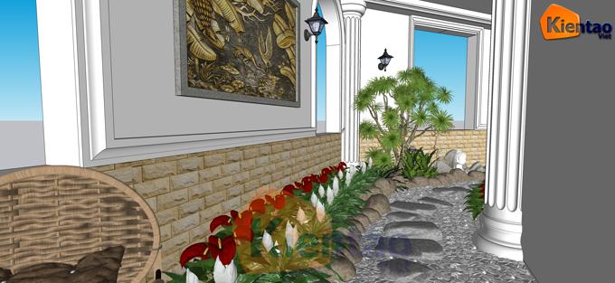 Thiết kế sân vườn, tiểu cảnh cho hông nhà của biệt thự-phối cảnh 01
